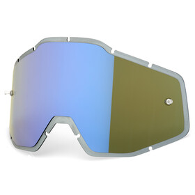 100% Mirror Anti-Fog F. Injected Lenses Racecraft/Accuri/Strata blue mirror/smoke anti-fog